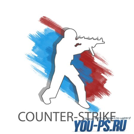 PSD аватар, логотип на тематику Counter-Strike